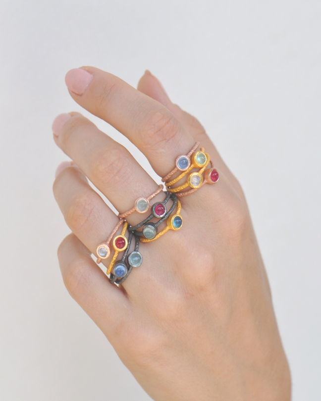 birthstone stack rings gemstone silver trendz tiny gemstone ring