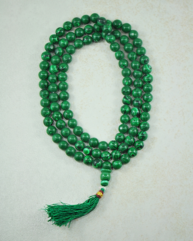 Malachite 108 Beads Mala from Silver Trendz