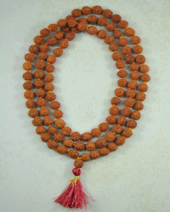 Rudraksha Seed 108 beads mala Silver Trendz