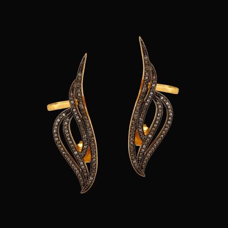 designer-jewelry-natural-diamond-vintage-style-earrings-ear-cuffs-sivalya